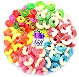 Gift Universe Gummi Rings Candy Gift Tray with Albaneses and Ferrara Candys Best Seller Fruit Flavored Gummi Ring 6 Section Variety Pack of Candies 2.5 Lbs