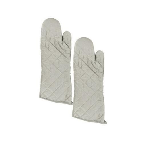 Large Silver Oven Mitts Set ( Case of 12 )