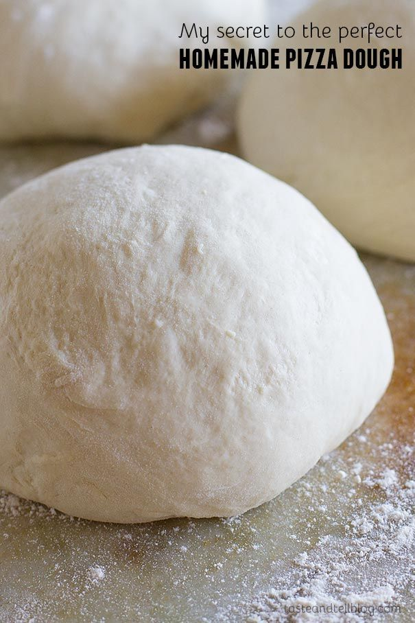 The Best Homemade Pizza Dough Recipe @FoodBlogs