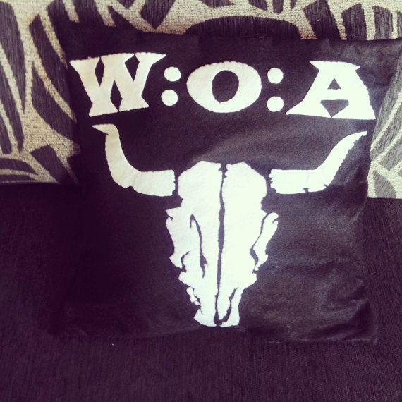wacken Open Air pillow. Felt cushion.