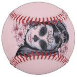 Woman skeleton mask softball #halloween #happyhalloween #halloweenparty #halloweenmakeup #halloweencostume