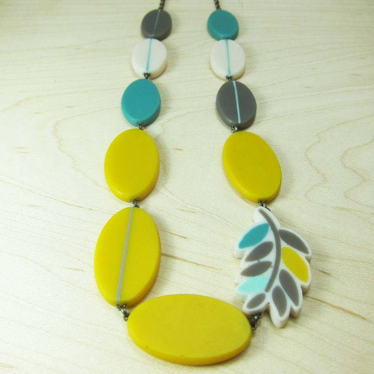 Long fern necklace   Contemporary Necklaces / Pendants by contemporary jewellery designer Karen McMillan