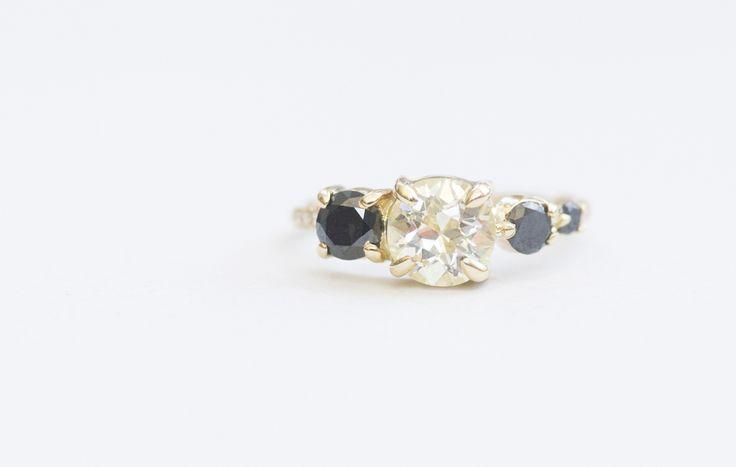 Http Mociun Com Sapphire And Diamond Line Cluster Ring
