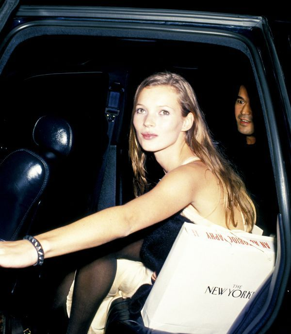 Kate Moss at a dinner party honoring Richard Avedon in 1993