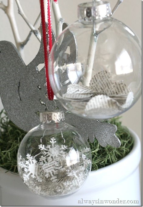 Book page christmas ornaments so cute this looks great for White tree red ornaments