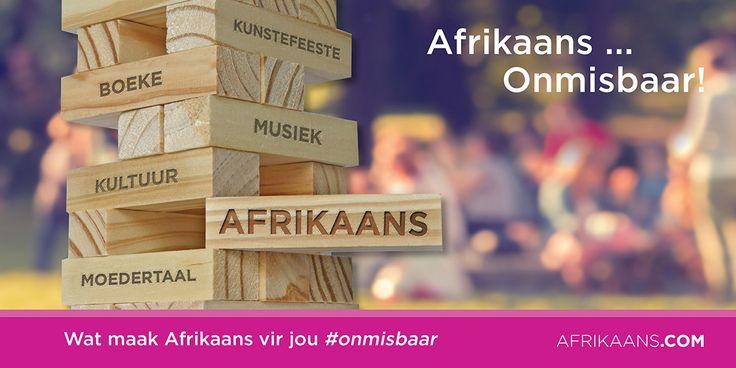 Sewe miljoen Suid-Afrikaners praat en lééf Afrikaans – 'n taal wat op eie bodem tot stand gekom het – eiegoed wat gegroei en ontwikkel het tot 'n akademiese taal waardeur sprekers internasionaal presteer en plaaslik floreer.