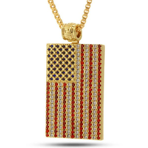 King Ice 14K Gold Patriot Necklace ($90) ❤ liked on Polyvore featuring men's fashion, men's jewelry, men's necklaces, mens gold necklace, mens yellow gold cross necklace and 14k gold mens necklace