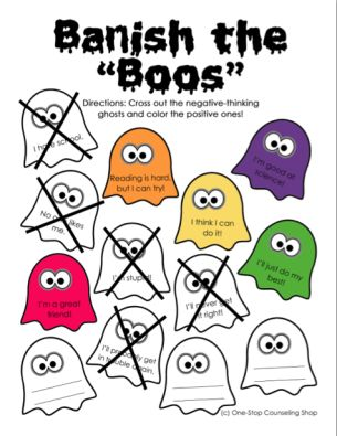 Fall Social Emotional Activity Ghosts