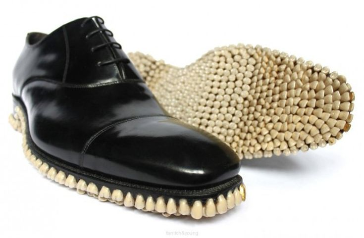 Shoes Made From Teeth? Get outta here! No literally.... that's disgusting, get out of here.