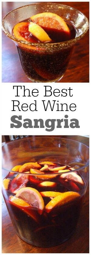 The best Red Wine Sangria recipe : always a huge hit! Great recipe for a 4th of July BBQ!