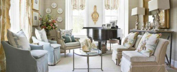 wohnzimmer möbel klavier traditionell eingerichtet Flügel - bar wohnzimmer möbel