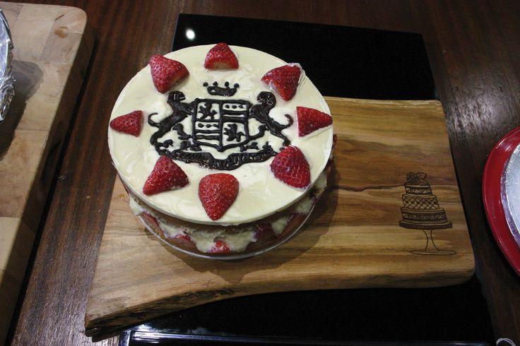 White chocolate sponge #EveryDayGourmet #CAKE #HandCraftedBoard