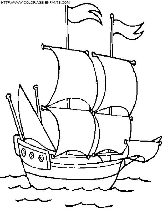 coloriage pirate bateau corsaire