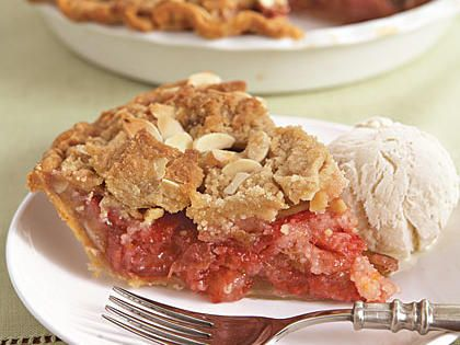 Strawberry-Rhubarb Crumble Pie | Learn how to make Strawberry-Rhubarb Crumble Pie. MyRecipes has 70,000+ tested recipes and videos to help you be a better cook