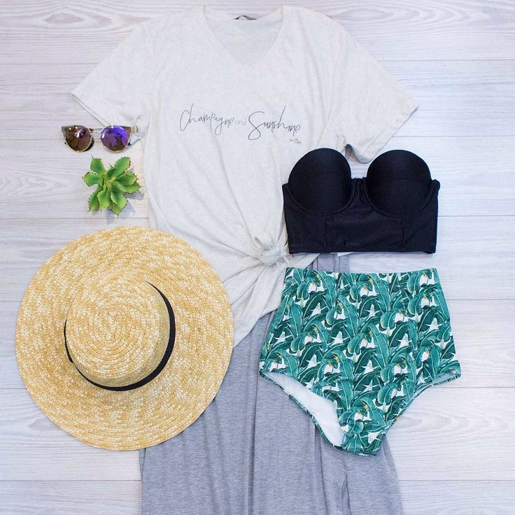 Afternoon picnic by the pool? We think yes! Don't let the warm weather get the best of you keep feeling cool and comfortable! Stop by today or call to purchase any of these items! 479-464-9261 Quay Asha Sunnies $44. in-store only. Mix And Match Retro Cropped Swim Top in Black $54. in-store only. Champagne and Sunshine Tee $34. Online  in-store. Relax To The Maxi Sleeveless Maxi Dress In Grey $42. online  in-store. Palm Trees Summer Breeze Swim Bottom $34. in-store only. Summer Love Straw Hat…
