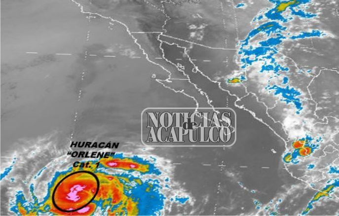 LA MADRUGADA DE HOY, EL CICLÓN TROPICAL ORLENE EVOLUCIONÓ A HURACÁN CATEGORÍA 1 EN EL OCÉANO PACÍFICO!!!  * La Onda Tropical Número 27, al sur de Guerrero, reforzará el potencial de lluvias en el sur del país.  Acapulco de Juárez Guerrero, a 12 de septiembre de 2016.- El huracán Orlene categoría 1 se formó este lunes en una zona remota del Pacífico y se esperaba que siguiera ganando fuerza...