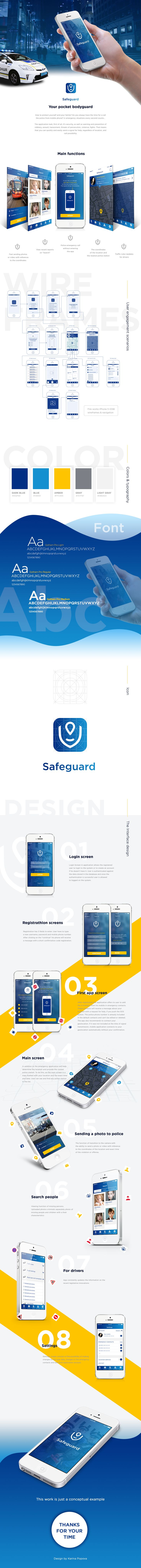 """Check out this @Behance project: """"Mobile app with function emergency call the police"""" https://www.behance.net/gallery/47141003/Mobile-app-with-function-emergency-call-the-police"""