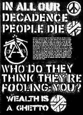 Eighties UK Anarcho punk band Crass poster. This band was a huge influence on me as a teenager.