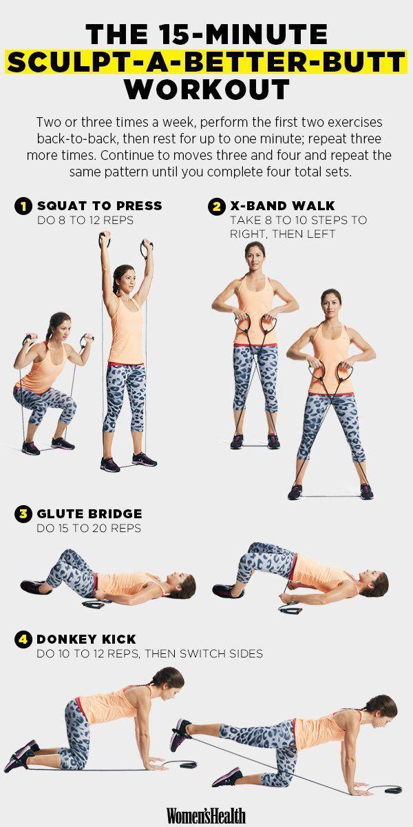 Bilde mit diesem 15-minütigen Workout einen umwerfenden Hintern