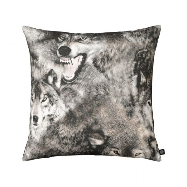 New Pack of Wolves photo print cushion