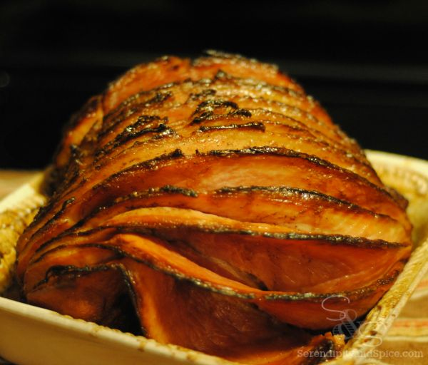 Holiday Spiced Glazed Ham Recipe...tastes just like Christmas....so much better than Honey Baked Ham and half the price!