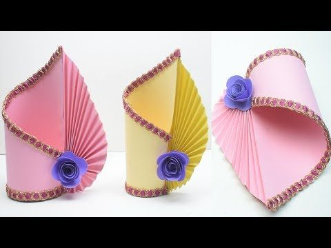 Youtube Hasha Paper Flower Vase Paper Vase Easy Paper Crafts