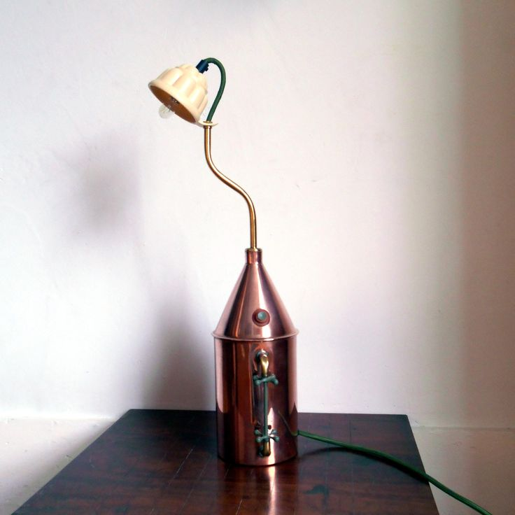 Vintage Steam Generator Desk Lamp by FionaBradshawDesigns on Etsy