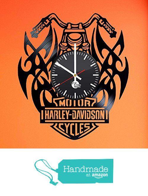 Harley Davidson Gift Vinyl Record Wall Clock - Get unique bedroom wall decor - Gift ideas for girlfriend and boyfriend - Leave us a feedback and win your custom clock from TO Design Studio https://www.amazon.com/dp/B01DF6QCJ8/ref=hnd_sw_r_pi_awdo_BoPzxb855RHAM #handmadeatamazon