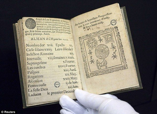 500 Year Old Nostradamus Prophecies Become First French Book To Be Archived On Google French Books History Notes Astrology Art