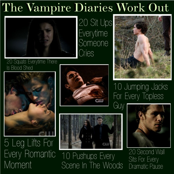 """""""THE VAMPIRE DIARIES WORK OUT"""" by xoluxury ❤ liked on Polyvore"""