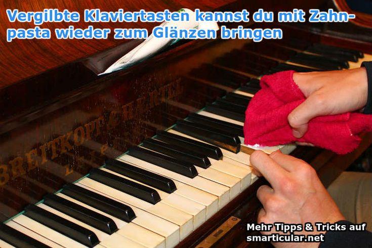 Klaviertasten reinigen - nur einen von vielen Tricks für Zahnpasta