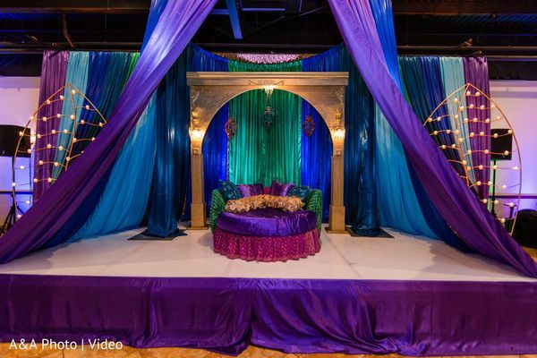 Amazing Decor With Royal Blues Purples Emerald Green And Copper