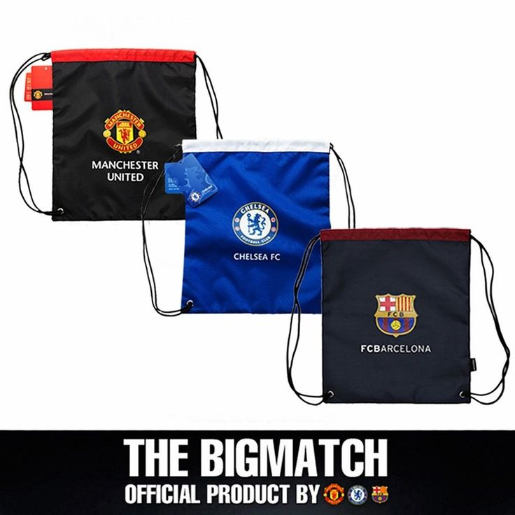Manchester United Chelsea FC Barcelona Official backpack sport EPL bag  AC5S02 #Eon #Backpack