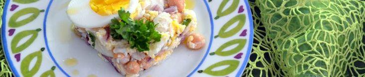 Meia desfeita insalata di baccalà e ceci