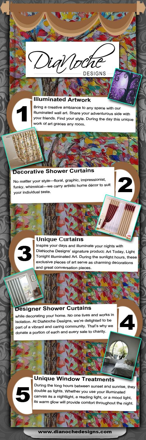 Designer shower curtains give your bathroom a new refreshing look without hurting a pocket by buying designer shower curtains from dianoche designs