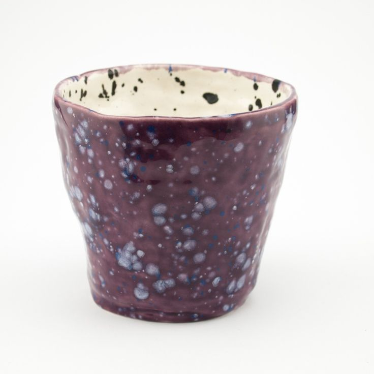 Image of Medium Vase | Raspberry and Ink Blots