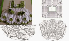 TRICO y CROCHET-madona-mía: Vestidos para bebe a ganchillo con patrón