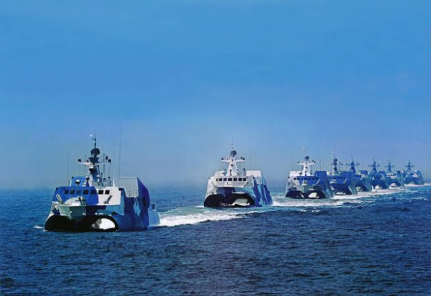 People Liberation Army Navy's Houbei missile boats