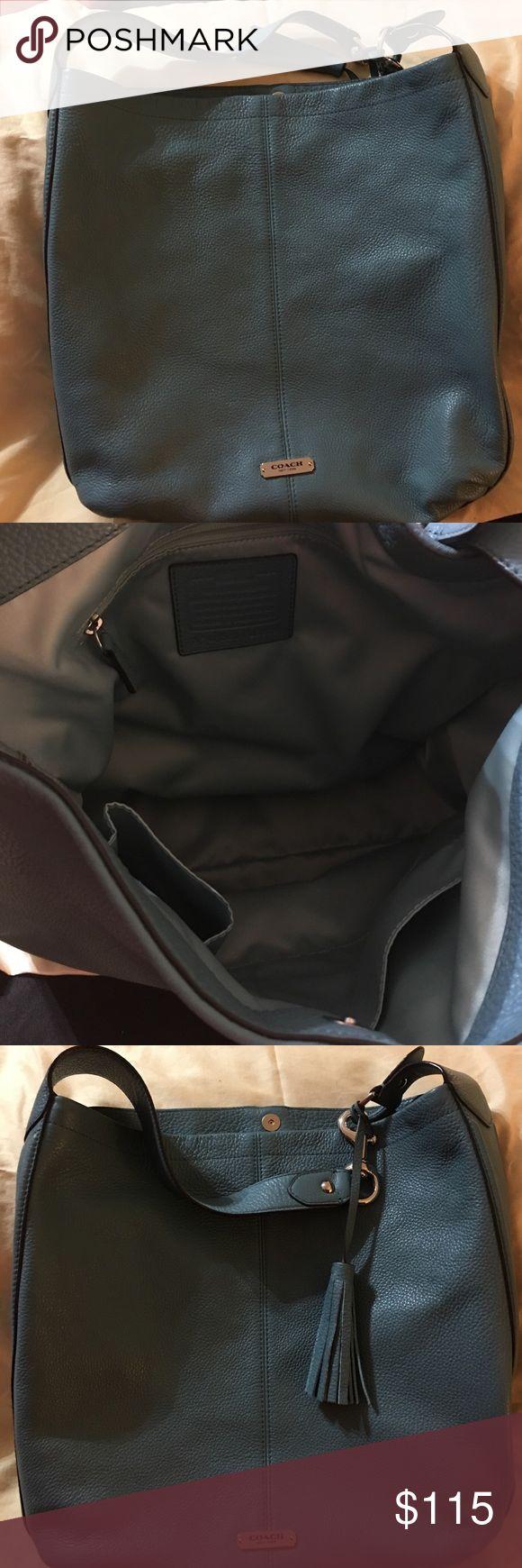 Coach Hobo Handbag Sea foam green Coach hobo bag. Excellent condition. Snap closure. Coach Bags Shoulder Bags