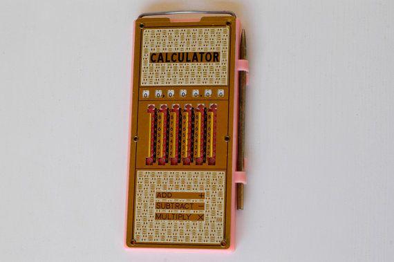 vintage calculator / retro mechanical calculator / by BOULOTDODO