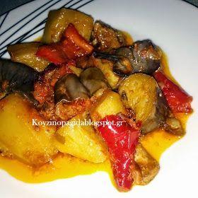 Κουζινοπαγίδα της Bana Barbi: Χοιρινό με λαχανικά στη γάστρα λουκούμι