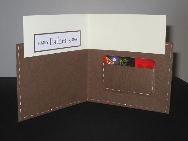 """Father's Day Wallet Card - one of the best """"manly"""" cards I've seen that has nothing to do with hunting, fishing, or tools. Love it!"""