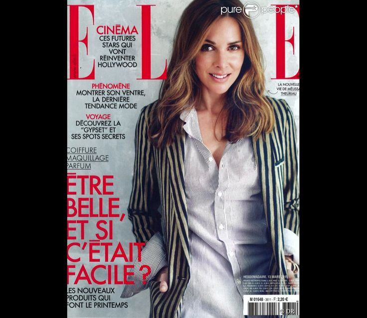 Mélissa Theuriau en couverture d'ELLE