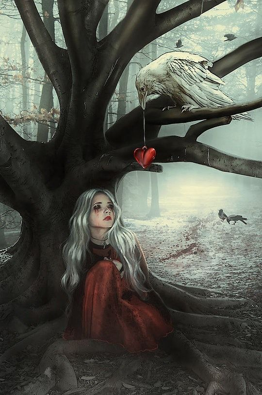 not exactly my type of digital art, but I like if because it looks like the bird is giving the girl's heart back to her