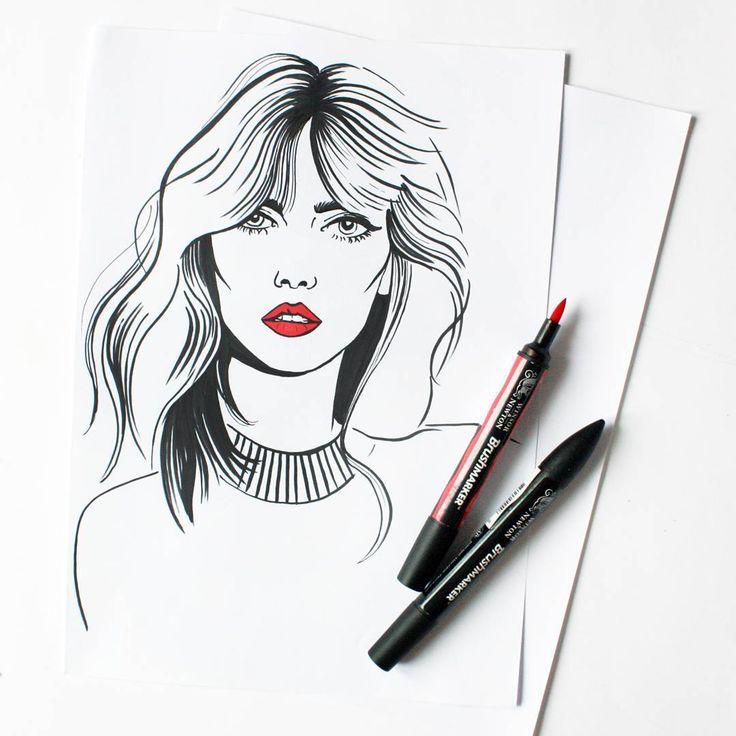 #portrait #sketch #model #illustration #drawing