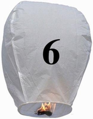 Lanterna Volante con numero 6
