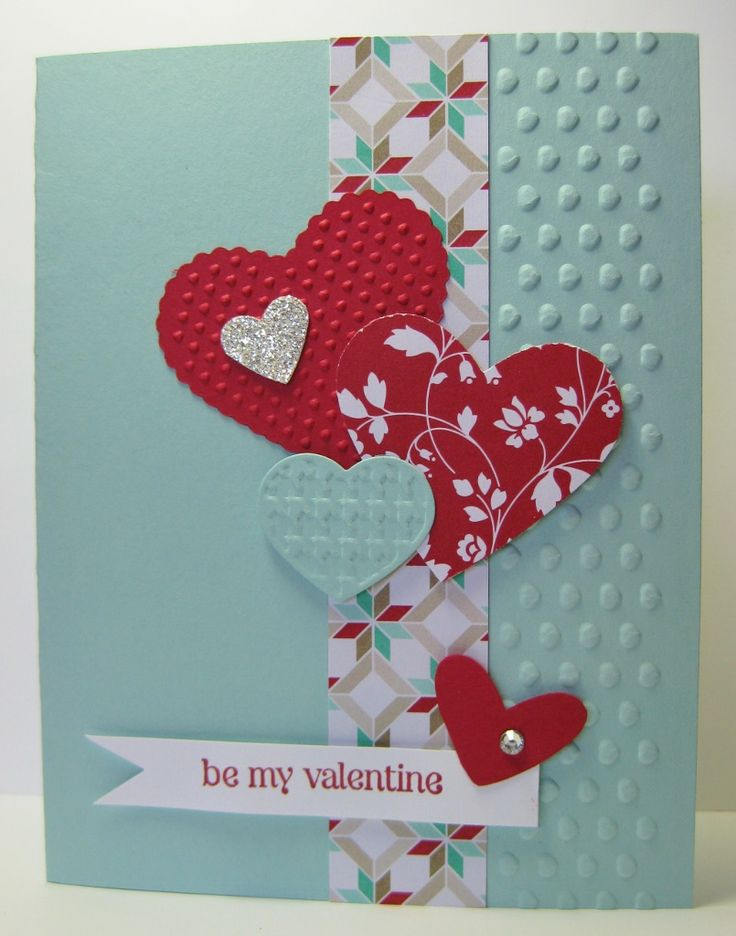 Fast Valentine! SU - Fresh Prints DSP Stack, Adorning Accents EF, P.S. I Love You retired stamp set (by Barb Mann)