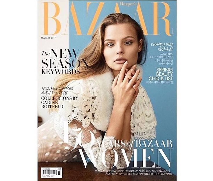 Dressed in white, Magdalena Frackowiak lands the March 2017 cover of Harper's Bazaar Korea. Photographed by Olivia Malone, the Polish beauty wears a white lace dress from Burberry's spring collection. The British fashion brand just unveiled the see now, buy now collection earlier this week during London Fashion Week, and now the line hits fashion …