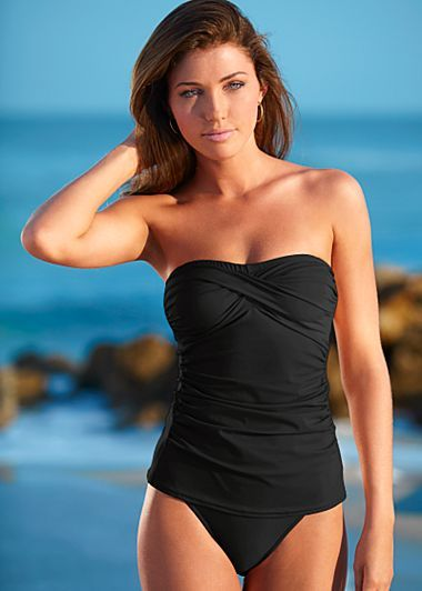 I'm still looking...  I like this one.  I need a tankini rather than a one piece for sizing ... Just wish they have a better selection of colors.  But it is strapless 4  ♥♥♥♥
