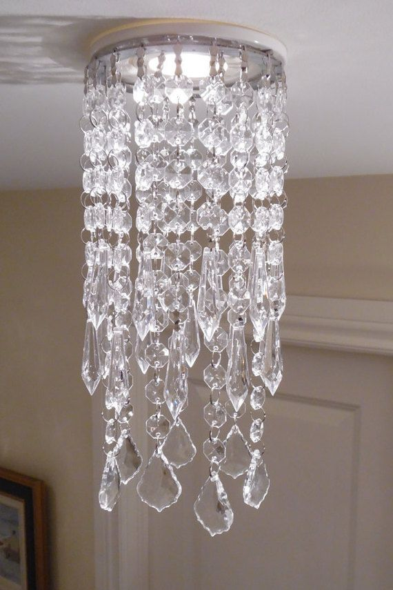 Acrylic Annalee Pendant for Recessed by LuxeCrystalFixture on Etsy